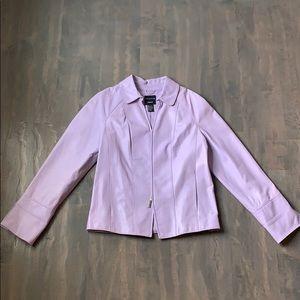Lavender Doncaster 100% Leather Jacket
